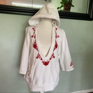 Lucky Brand embroidered pullover hoodie